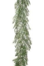 """77"""" SNOWED PINE GARLAND GREEN/WHITE"""