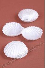 """2.5"""" PLASTIC SHELLS WHITE PKG/12"""