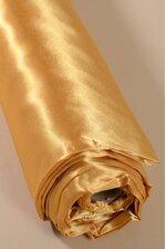 "60"" X 10YDS SATIN FABRIC GOLD"