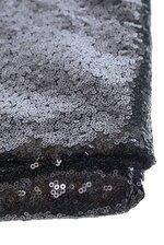"60"" X 5YDS SEQUIN NETTING BLACK"