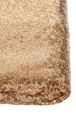 """60"""" X 5YDS SEQUIN NETTING GOLD"""