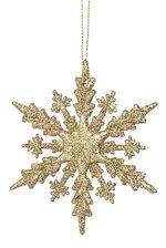 "4"" GLITTER SNOWFLAKE GOLD"