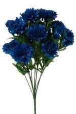 """18"""" SILK CARNATION BUSH ROYAL BLUE"""