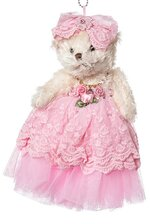 "10"" SKIRT DIAMOND TEDDY BEAR (PINK)"