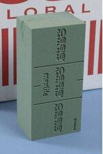 """3"""" X 4"""" X 9"""" OASIS STANDARD FLORAL FOAM BRICK GREEN"""