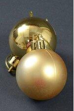 60MM SHINY & MATTE PLASTIC BALL GOLD PKG/12