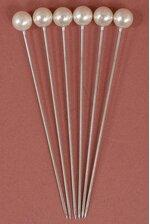 "2.5"" PEARLED PINS IVORY PKG/144"
