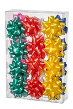 "3.5"" STAR BOWS MULTICOLOR BX/24"