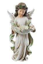 "12.25"" ANGEL GIRL BIRD FEEDER PASTEL"