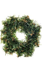 """3"""" CANADIAN PINE WREATH (PACK OF 12)(GREEN)"""