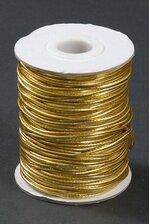 50YDS METALLIC ELASTIC CORD GOLD