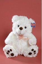 """16"""" HUGGABLE BEAR WHITE/BROWN"""