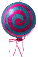 "7 X 12"" NON-STICK LOLLIPOP FUCHSIA/LT.BLUE"