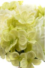 "13"" SILK ROSE/HYDRANGEA BOUQUET CREAM/GREEN"
