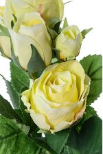 "15.5"" CABBAGE ROSE SPRAY YELLOW"