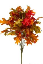 "23"" OAK LEAF BUSH FLAME ORANGE"