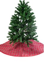"""54"""" DUNDEE PLAID W/PIPING TREE SKIRT"""