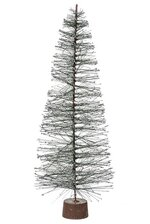 "15"" HARDNEEDLE SLIVER GLITTER TREE GREEN"