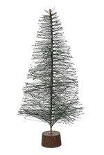 "12"" HARDNEEDLE SLIVER GLITTER TREE GREEN"