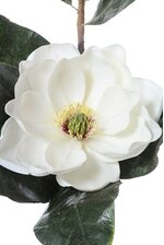 "29"" SILK MAGNOLIA SPRAY W/BUD WHITE"