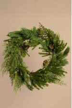 24'' PINE WREATH GREEN