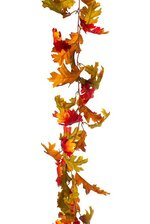 "65"" OAK LEAF GARLAND FLAME/ORANGE"