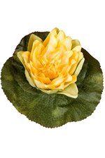"""6.5"""" ARTIFICIAL FLOATING LILY HEAD YELLOW"""