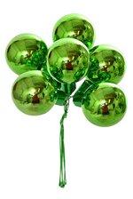 35mm Gloss Glass Ball Ornament Green Pkg/72