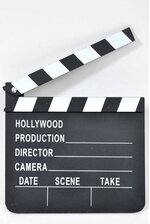 "7"" X 8"" MOVIE SET CLAPBOARD BLACK/WHITE"