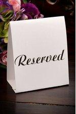 RESERVED TABLE TENT CARD WHITE/BLACK PKG/12