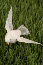 """3"""" FLYING DOVE WHITE PKG/12"""