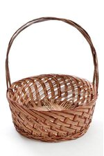 """12"""" X 5"""" ROUND TWO TONE BASKET RED/BROWN"""