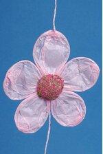 """5"""" X 60"""" PAPER FLOWERS GARLAND LIGHT PINK"""