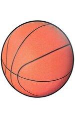 BASKETBALL CUTOUT BROWN PKG/6