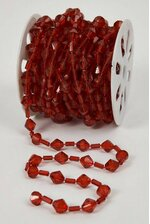 10YDS BEADED GARLAND ROLL RED