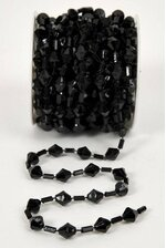 10YDS BEADED GARLAND ROLL BLACK