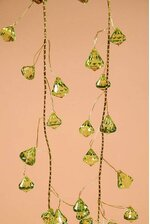 6FT PRISM GARLAND APPLE GREEN/GOLD