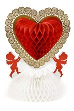 "11"" VALENTINE'S CENTERPIECE RED/WHITE/GOLD"