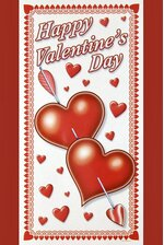 """30"""" x 60"""" VALENTINE'S DAY DOOR COVER WHITE/RED"""