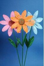 "9.5"" X 25.5"" PAPER FLOWER PICK ASSORTED PKG/6"