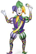 """38"""" JOINTED MARDI GRAS JESTER"""