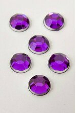 7MM ACRYLIC FLAT BACK FACETED RHINESTONE DARK PURPLE PKG/ 192 APPROXIMATELY