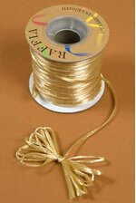100YDS PEARLIZED RAFFIA LIGHT GOLD