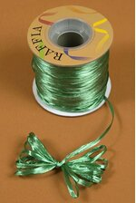 100YDS PEARLIZED RAFFIA LIGHT EMERALD GREEN