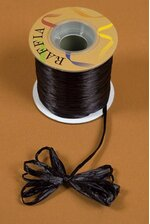 100YDS PEARLIZED RAFFIA BLACK