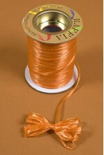 100YDS PEARLIZED RAFFIA ORANGE