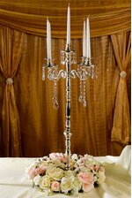"32.5"" CANDLE HOLDER 5-LITE SILVER PLATED"