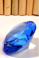 100MM DIAMOND CRYSTAL BLUE