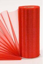 """6"""" X 25YDS ORGANZA RED"""