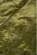 """25"""" X 3YDS SHEER/FLOCKED DAMASK SHEET MOSS GREEN"""